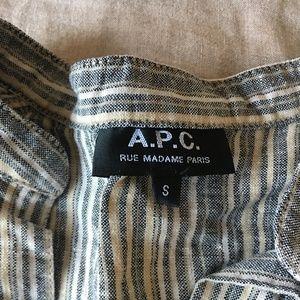 APC Linen Striped Tunic